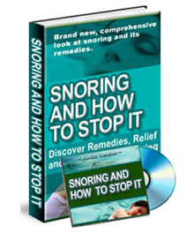 ebook about snoring and how to stop it